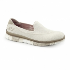 Skechers GO FLEX WALK 14010 Ladies Womens Trainers Taupe Beige