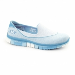 GO FLEX WALK Ladies Slip-On Trainers Turquoise