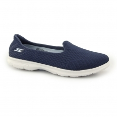 Skechers GO STEP - ELATED Ladies Slip On Sports Flats Navy/Grey