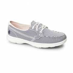 GO STEP - SANDY Ladies Boat Shoes Navy/White