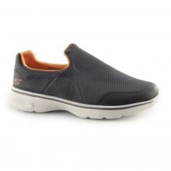 Skechers GO WALK 4-INCREDIBLE Mens Sports Shoes Charcoal/Orange