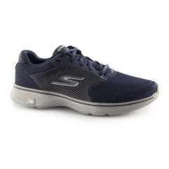 Skechers GO WALK 4 Mens Comfort Gym Sports Trainers Navy/Grey