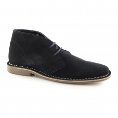 GOBI II Mens Suede Leather Desert Boots Navy