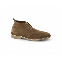 GOBI Mens Suede Leather Desert Boots Bison