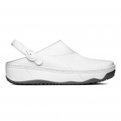 GOGH™ Ladies Leather Work Clogs White
