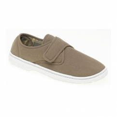 ELIOT Mens Padded Casual Velcro Shoes Taupe