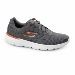 GORUN 400 Mens Sport Lace Up Trainers Charcoal/Orange
