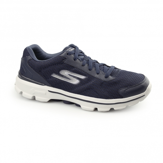 Skechers GOWALK 3 - FITKNIT Mens Sports Trainers Navy