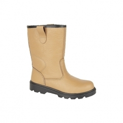 M020BSM Unisex S1 SRC Thermal Safety Rigger Boots Tan
