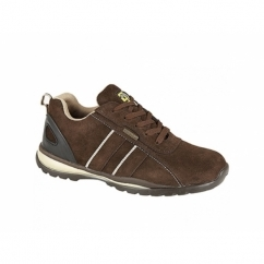 M090BS Unisex SB SRA Safety Trainers Brown