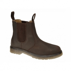 RONALD Mens Plain Air Cushion Sole Chelsea Boots Oily Brown
