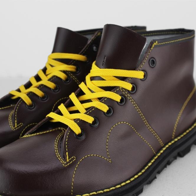 a98f2c86d50 UNISEX Original Leather Monkey Boots Wine