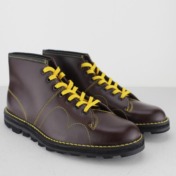 86d0b4eca52 UNISEX Original Leather Monkey Boots Wine