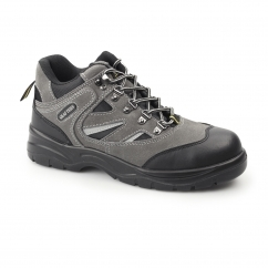 Unisex S1 SRC Suede Hiking Safety Boots Grey/Black