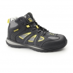 Unisex SB SRC Suede/Mesh Safety Boots Grey/Yellow