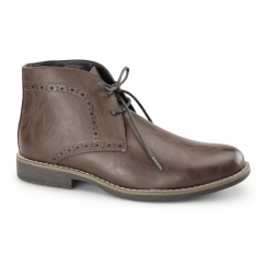 GRANVILLE Mens Brogue Chukka Boots Brown