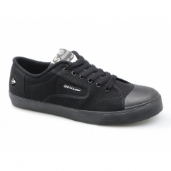 GREEN FLASH Unisex Canvas Trainers Black