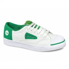 GREEN FLASH Unisex Canvas Trainers White/Green