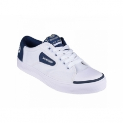 GREEN FLASH Unisex Retro Trainers White/Navy