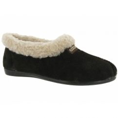 GRETTON SLIPPER Ladies Warm Lined Slippers Brown