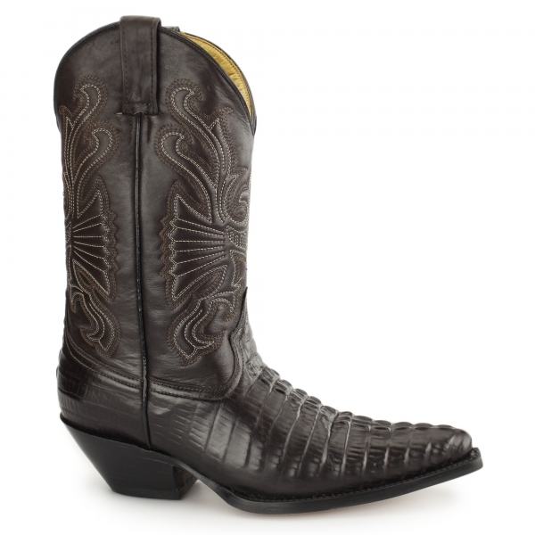Zapatos con alzas - (lifts, elevator boots, alzas sueltas, etc) Grinders-carolina-mens-croc-leather-cuban-heel-cowboy-boots-brown-p12438-71915_image