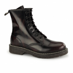 CEDRIC Unisex Leather Derby Boots Burgundy