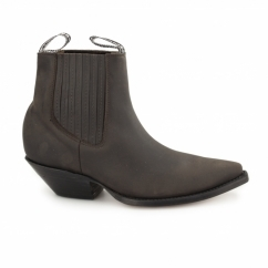 MUSTANG Unisex Leather Cuban Heel Chelsea Boots Brown