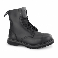 STAG CS Unisex Leather Steel Toe Ankle Boots Black