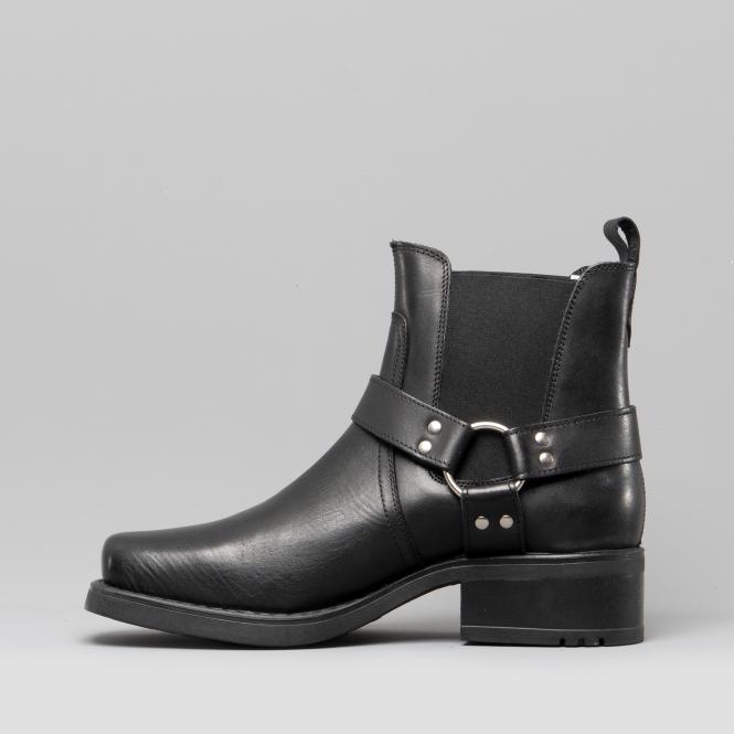 172797179bc HARLEY Mens Leather Ankle Biker Cowboy Boots Black