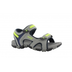 GT STRAP Junior Sports Sandals Grey/Blue/Lemon