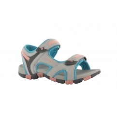 GT STRAP Junior Sports Sandals Grey/Blue/Papaya Pink