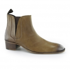 GEORGE Mens Cuban Heel Chelsea Boots Tan