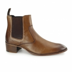 LUCCA Mens Leather Chelsea Boots Tan