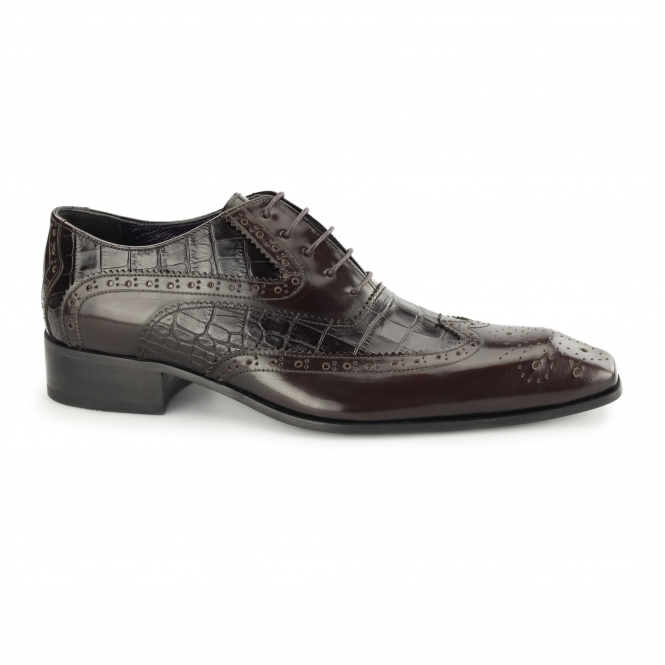 Gucinari MANAROLA Mens Leather Oxford Brogues Brown/Tobbaco