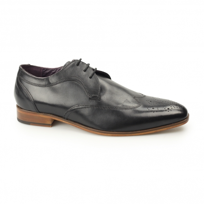 Gucinari MILLE Mens Leather Derby Brogues Black