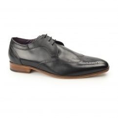Gucinari MILLE Mens Leather Smart Derby Shoes Brogues Black