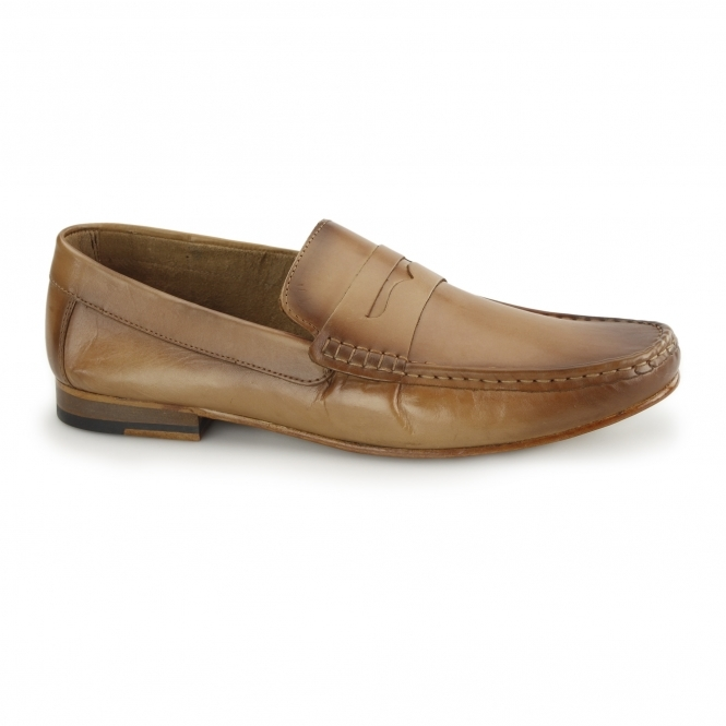 Gucinari NUMANA Mens Leather Penny Loafers Tan