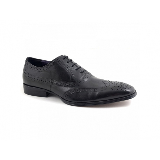 Gucinari PARMA Mens Leather Brogue Shoes Black