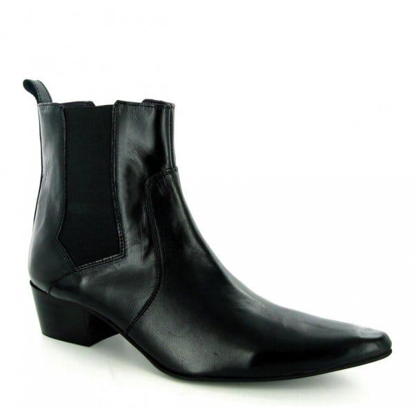 gucinari mens shiny winklepicker chelsea boots black buy
