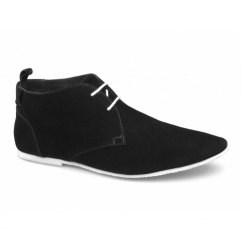 SAMUEL Mens 2 Eye Suede Desert Boots Black