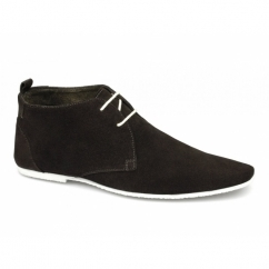 SAMUEL Mens 2 Eye Suede Desert Boots Brown