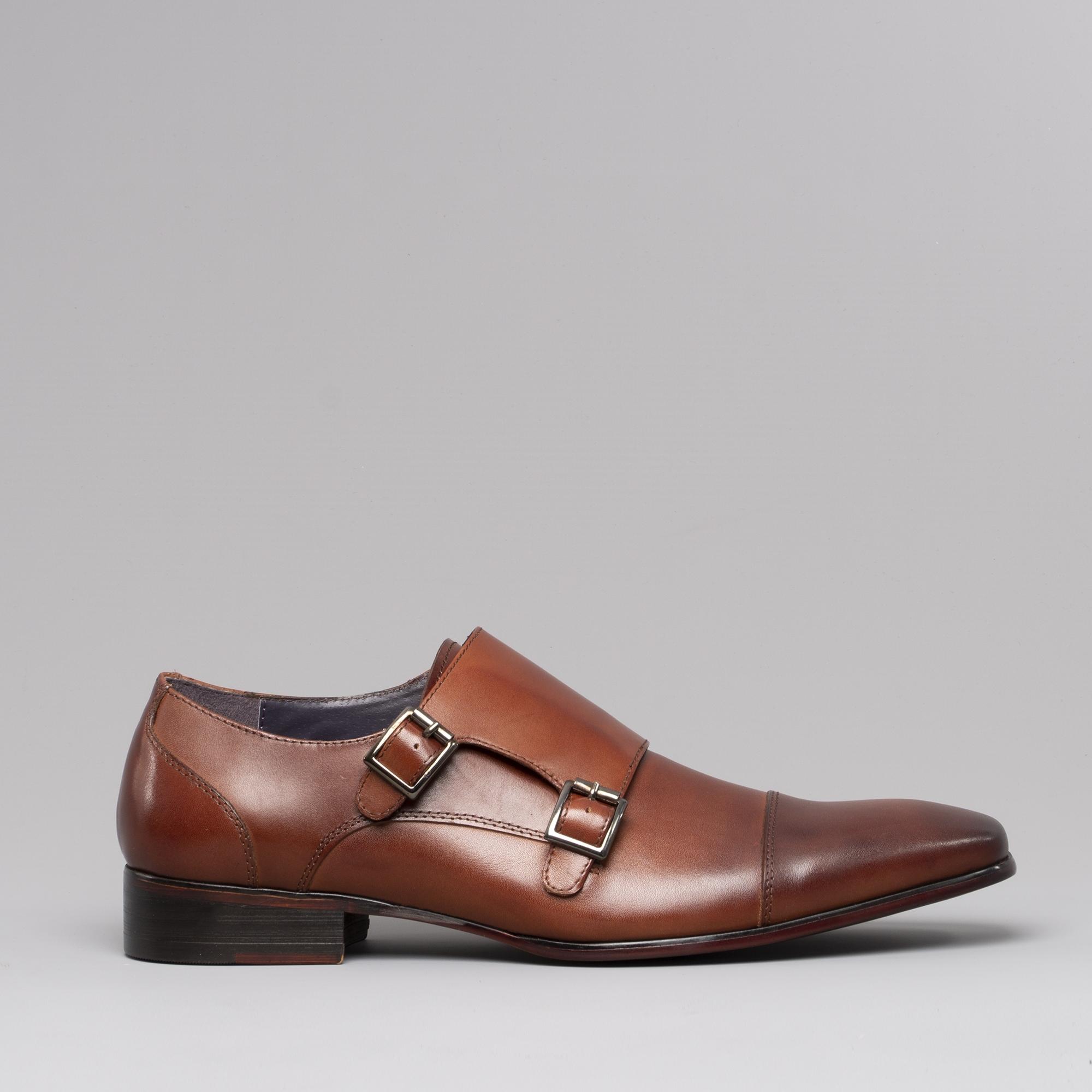 Gucinari Senna Mens Toecap Leather Monk Shoes Tan Buy At Shuperb