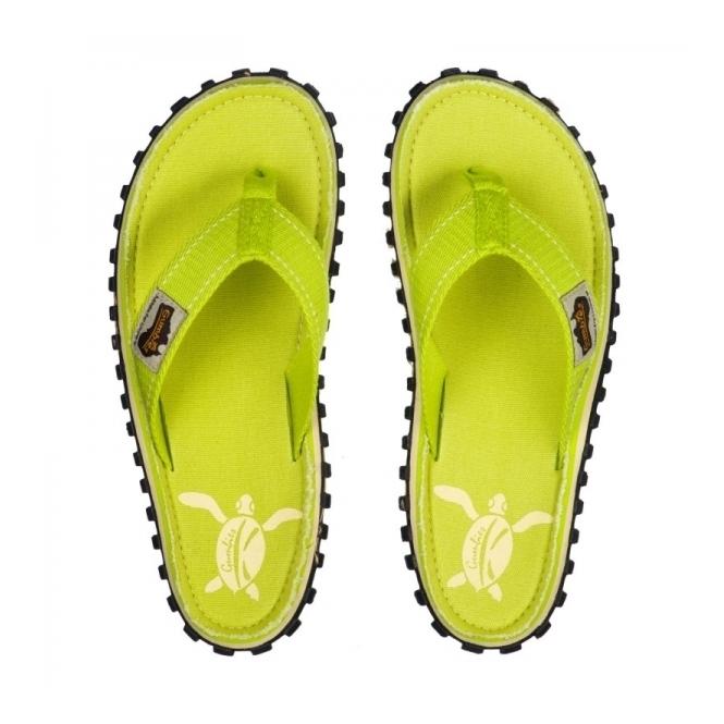 24c22f6cf713e2 Gumbies ISLANDER Ladies Summer Flip Flops Lime Turtle