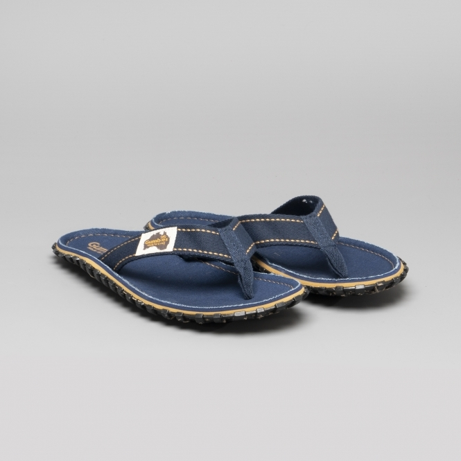 61531a617 Gumbies ISLANDER Unisex Canvas Flip Flops Dark Denim