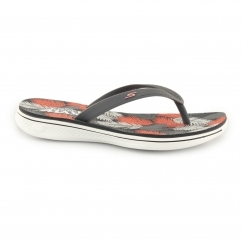 Skechers H2 GOGA-LAGOON Ladies Toe Post Flip Flops Charcoal/Coral