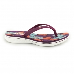 Skechers H2 GOGA-LAGOON Ladies Toe Post Flip Flops Purple/Pink