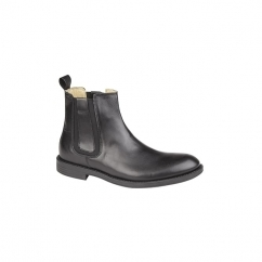 HADRIAN Mens Twin Gusset Dealer Boots Black