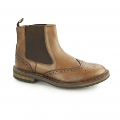 HAFTHOR Mens Goodyear Welted Chelsea Boots Brown