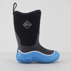 HALE Boys Rubber Wellington Boots Black/Blue