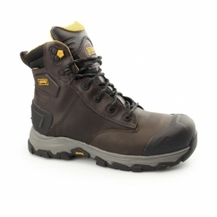 HAMBURG 6.0 Mens S3 WP SRC Composite Safety Boots Coffee
